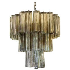 Venini Murano Grey Glass Chandelier