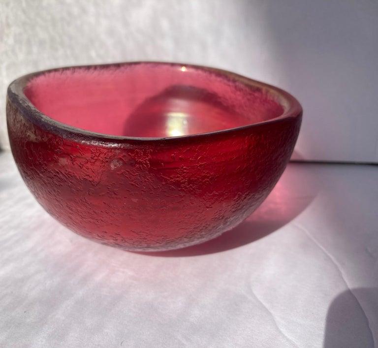 Great Murano bowl acid signature, Venini Murano Italia