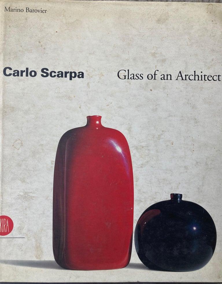 Mid-20th Century Venini Murano Sommerso Glass, Corroso Vase, by Carlo Scarpa, Acid 3-Line Mark For Sale