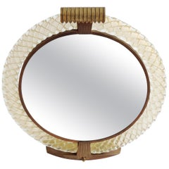 Venini Murano Table Vanity Mirror with Light, Italy, 1940s
