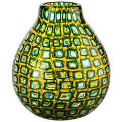Venini Murrine Romane Multi-Color Vase by Carlo Scarpa