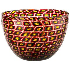 Venini Murrine Romane Multicolor Bowl by Carlo Scarpa