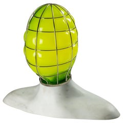 Venini Musa Glass Sculpture Light in Green by Fabio Novembre