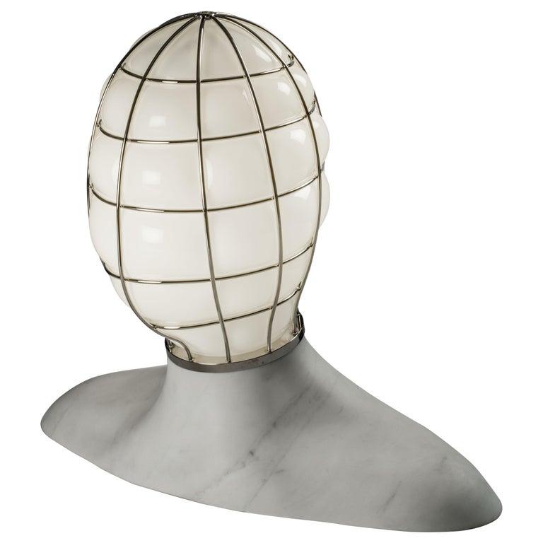 Venini Musa Glass Sculpture Light in White by Fabio Novembre For Sale