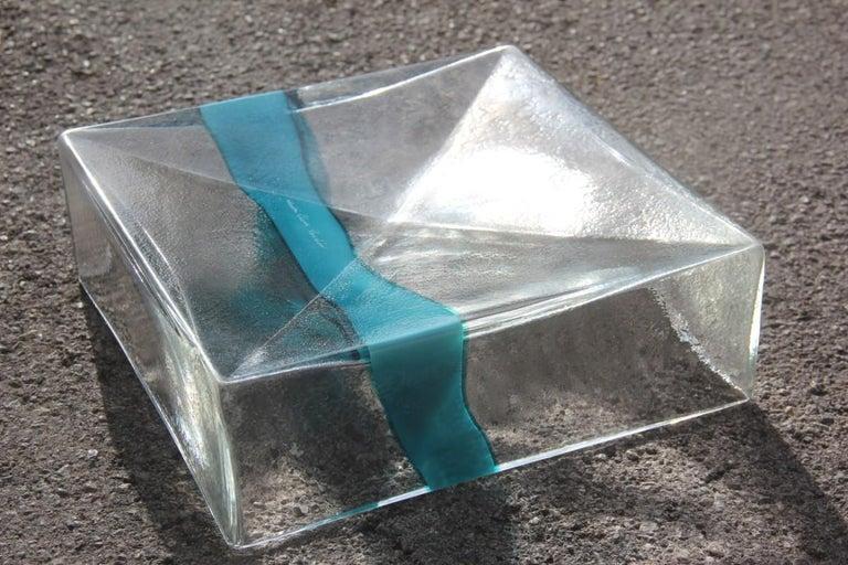 Venini Pierre Cardin Heavenly Big Bowl Cubic Form Modern Italian Design, 1968 For Sale 3