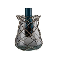 Venini Pistillo Vase in Blue & Grey Glass by Atelier Oï