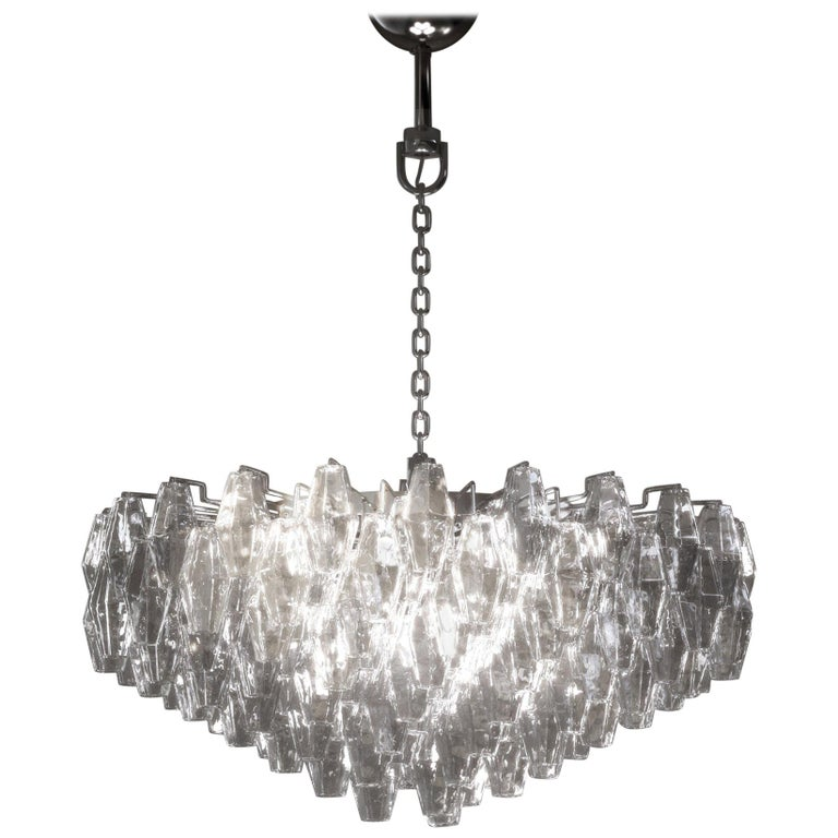 Venini Poliedri Applique Chandelier by Carlo Scarpa For Sale