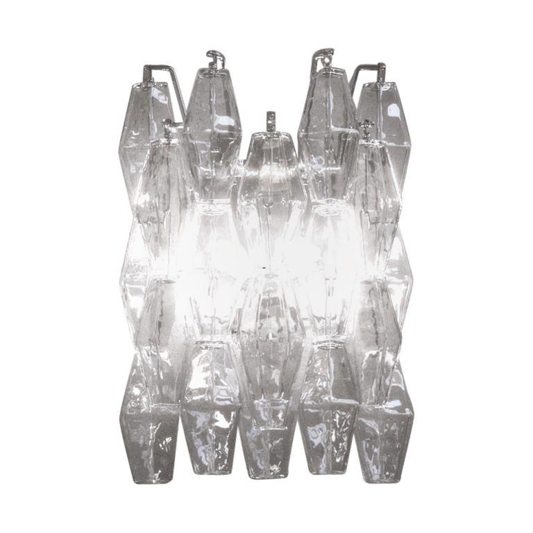 Venini Poliedri Applique Wall Sconce by Carlo Scarpa For Sale