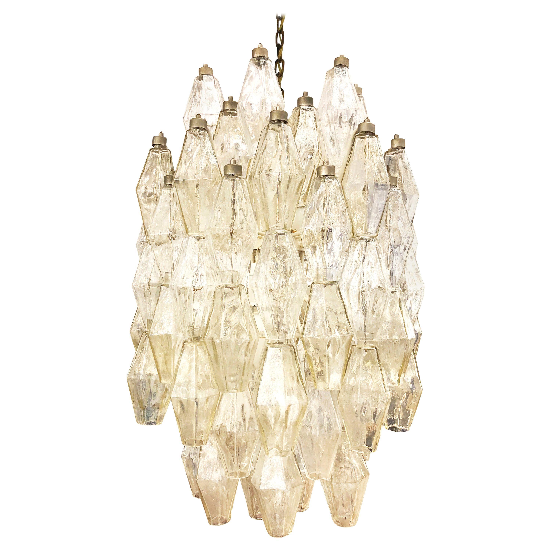 Venini Poliedri Murano Glass Chandelier