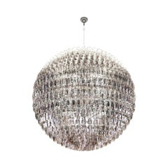 Venini Poliedri Sfera Small Murano Glass Chandelier