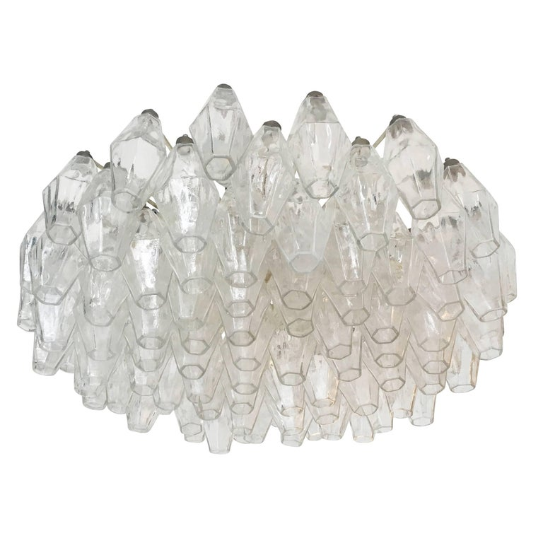 Italian Venini Polyhedral Chandelier, Italy, 1960s For Sale