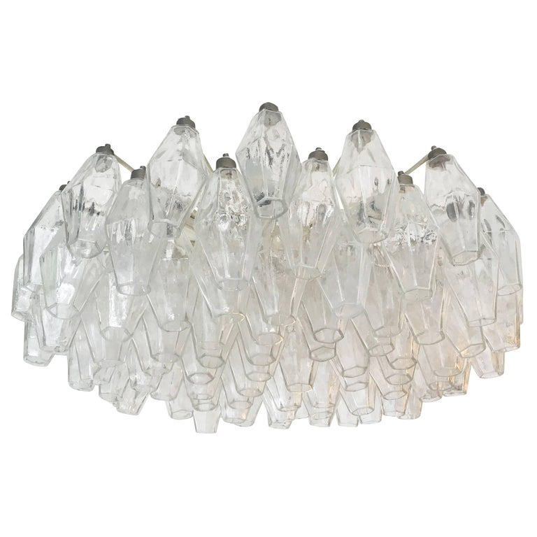 Venini Polyhedral Chandelier, Italy, 1960s In Excellent Condition For Sale In New York, NY