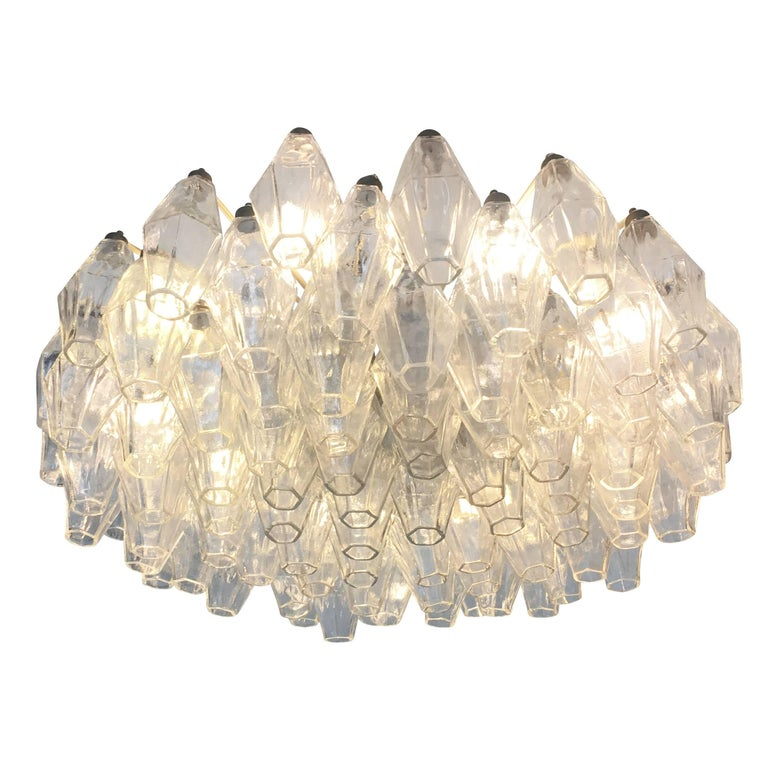 Venini Polyhedral Chandelier, Italy, 1960s For Sale