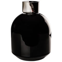 Venini Port Vase in Black Glass by Edward Barber & Jay Osgerby