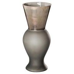 Venini Principe Vase aus grauem Glas von Rodolfo Dordoni