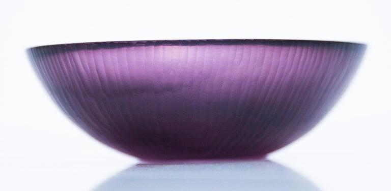 Italian Venini Purple Murano Glass Bowl by Carlo Scarpa, 1960s For Sale