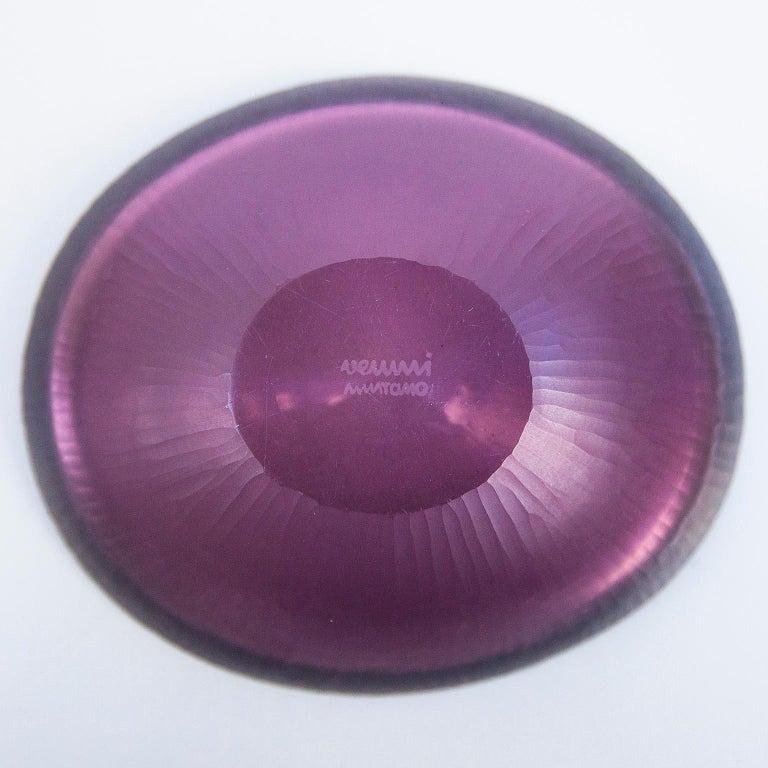 Mid-20th Century Venini Purple Murano Glass Bowl by Carlo Scarpa, 1960s For Sale