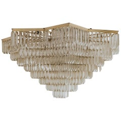 Venini Quatro Punta Murano Glass Starshaped Chandelier