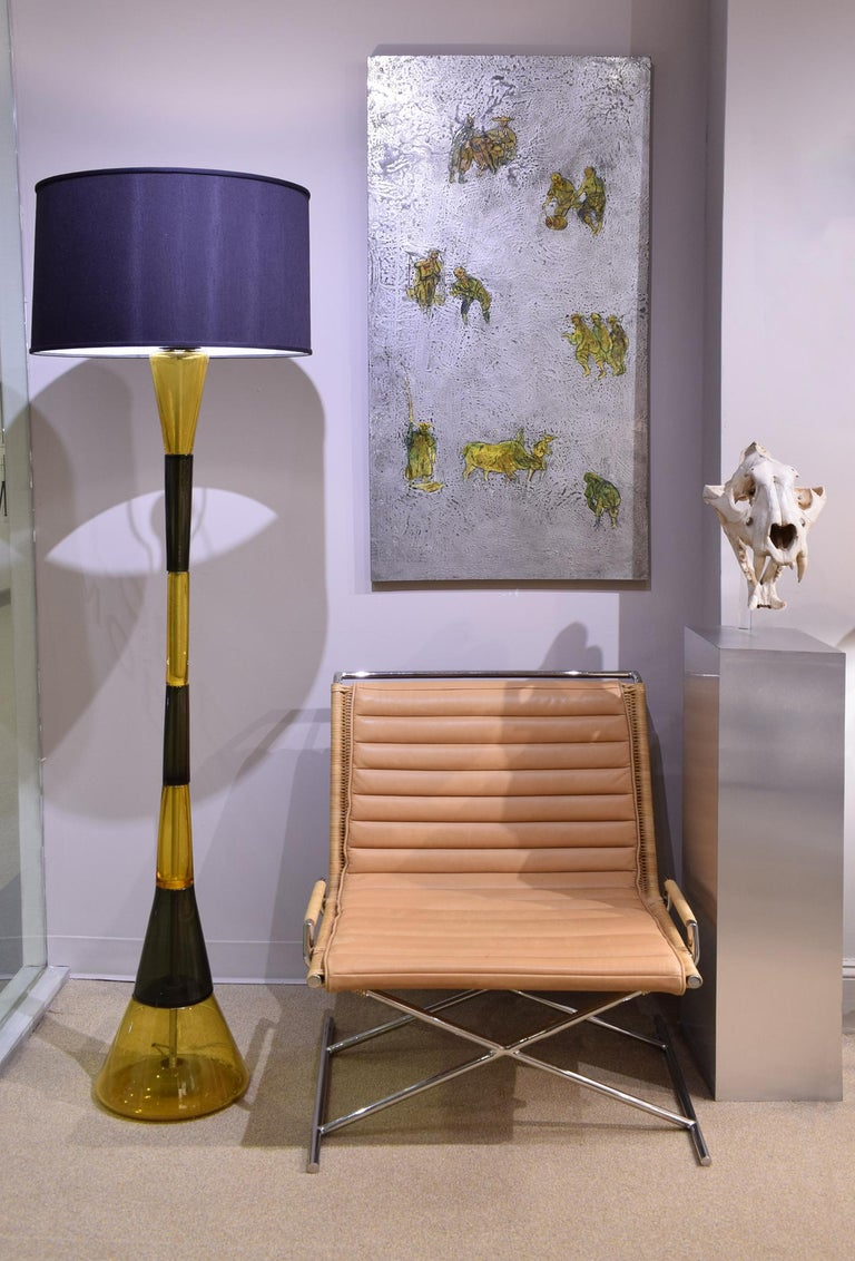 Venini Rare Hand-Blown Glass Floor Lamp, ca 1960 In Excellent Condition For Sale In New York, NY