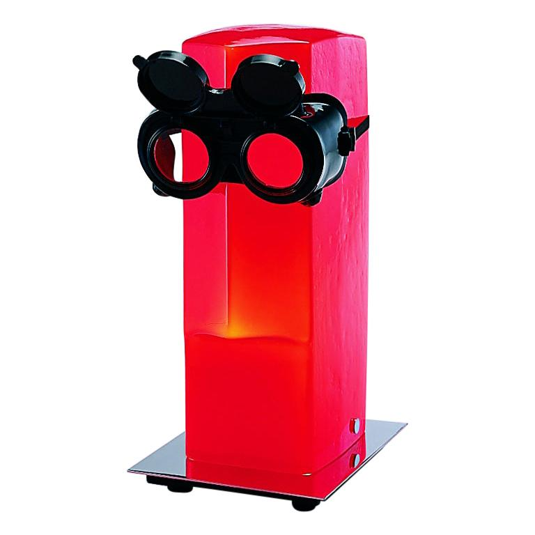 Venini Replicanti Table Light in Red with Glasses
