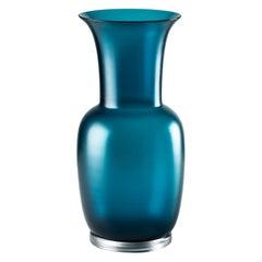 Venini Satin Medium Vase in Horizon Crystal Murano Glass