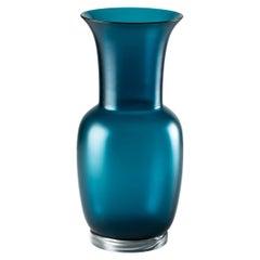 Venini Satin Small Vase in Horizon Crystal Murano Glass