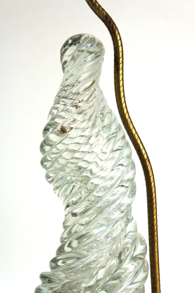 Venini & Scarpa Italian Murano Glass 'Diamante' Table Lamps For Sale 5