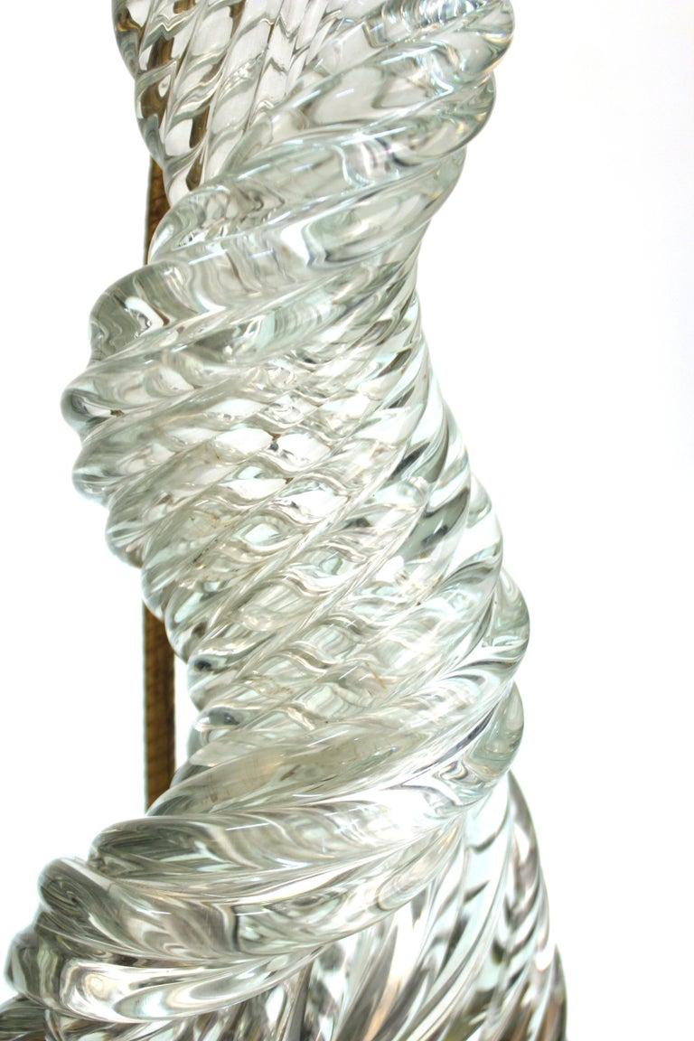Metal Venini & Scarpa Italian Murano Glass 'Diamante' Table Lamps For Sale