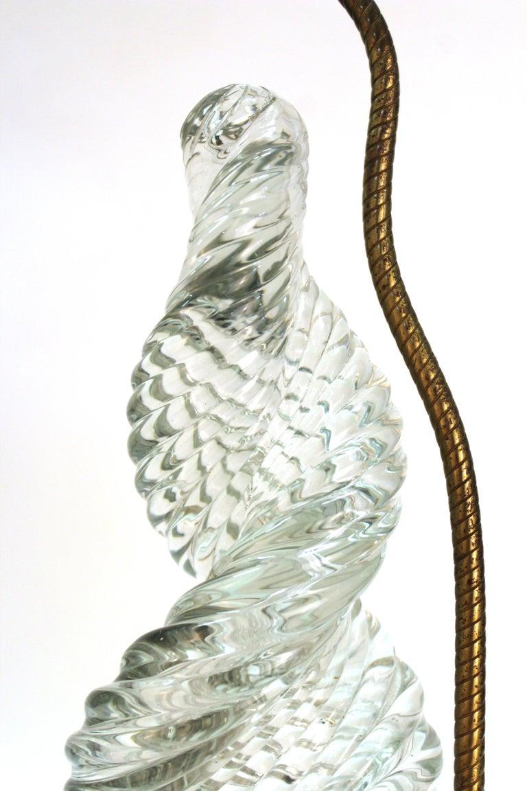 Venini & Scarpa Italian Murano Glass 'Diamante' Table Lamps For Sale 2