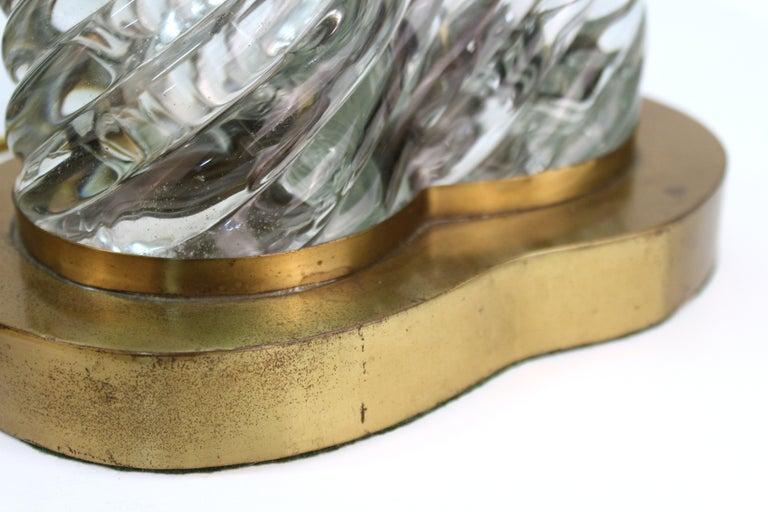 Venini & Scarpa Italian Murano Glass 'Diamante' Table Lamps For Sale 3