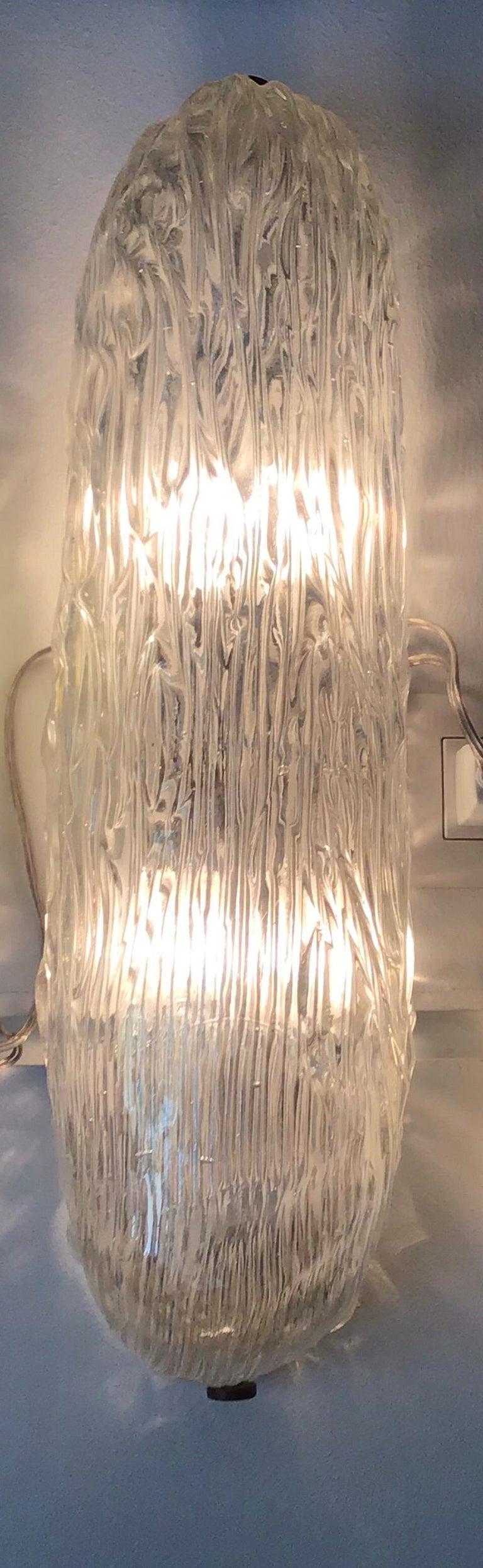 Venini Sconces/Ceiling Light Murano Glass Brass, 1950, Italy For Sale 4