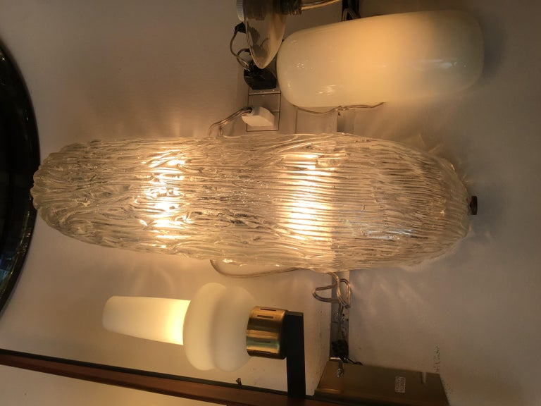Venini Sconces/Ceiling Light Murano Glass Brass, 1950, Italy For Sale 10