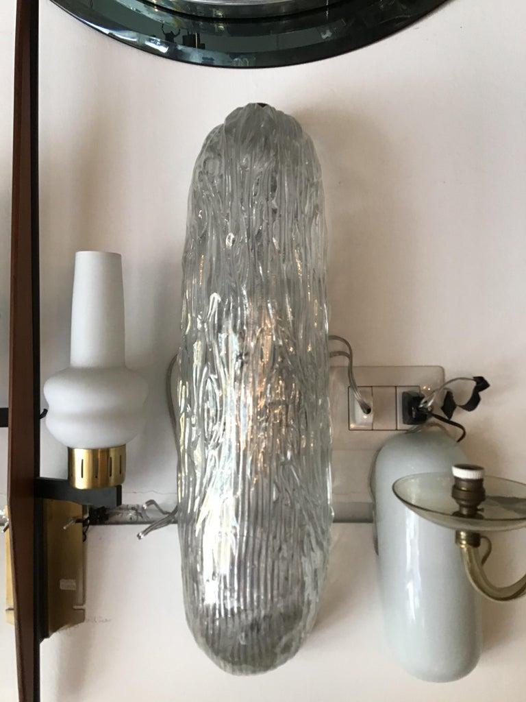 Venini sconces/ceiling light Murano glass brass, 1950, Italy.