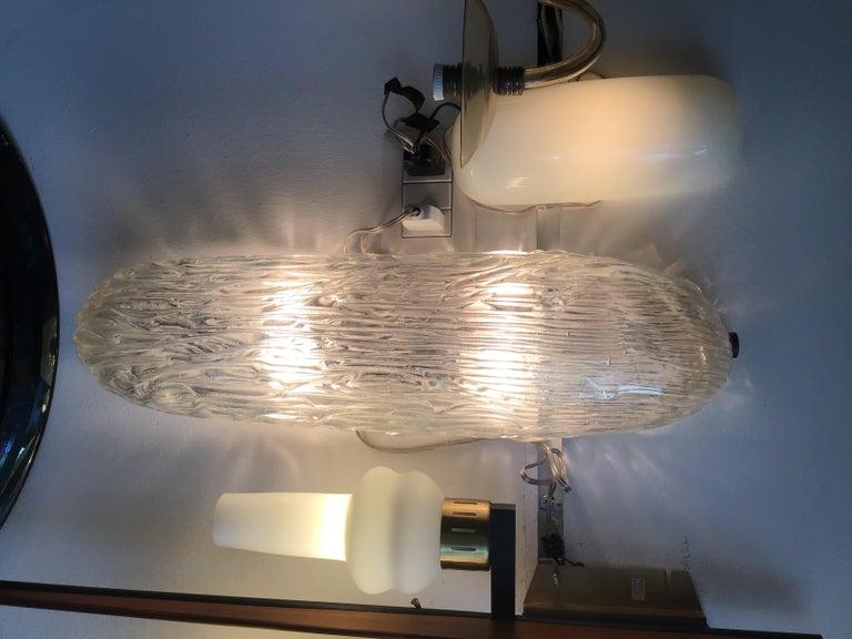 Venini Sconces/Ceiling Light Murano Glass Brass, 1950, Italy For Sale 1