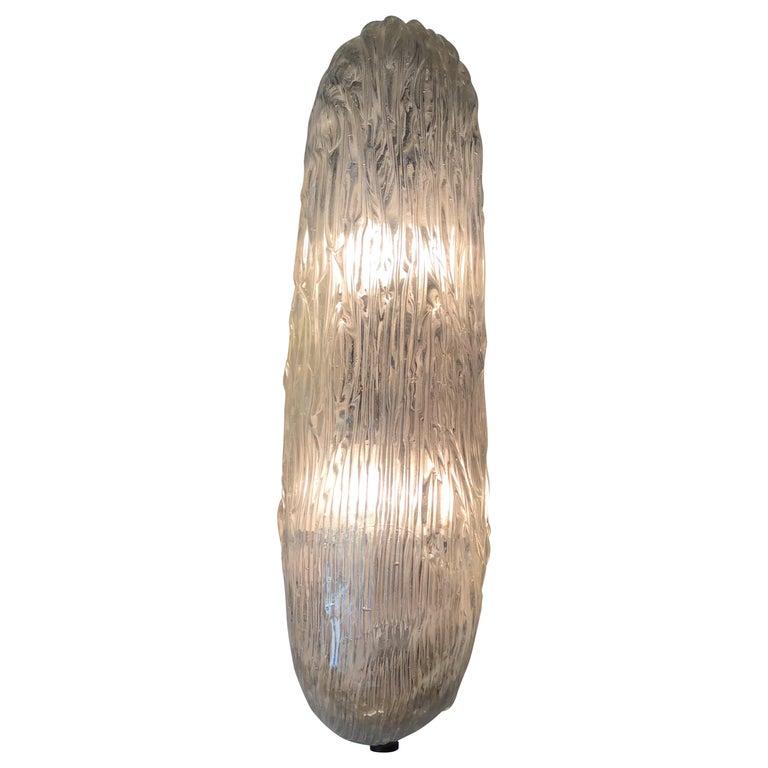 Venini Sconces/Ceiling Light Murano Glass Brass, 1950, Italy For Sale