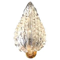 Venini Sconces Murano Glass Brass 1940 Italy