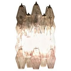 """Venini Sconces Poliedri """"Carlo Scarpa"""" Murano Glass Metal Iron, 1950, Italy"""