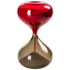 Venini Small Clessidra Hourglass in Sand & Red