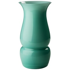 Venini Small Lady Glass Vase in Mint Green by Leonardo Lanucci