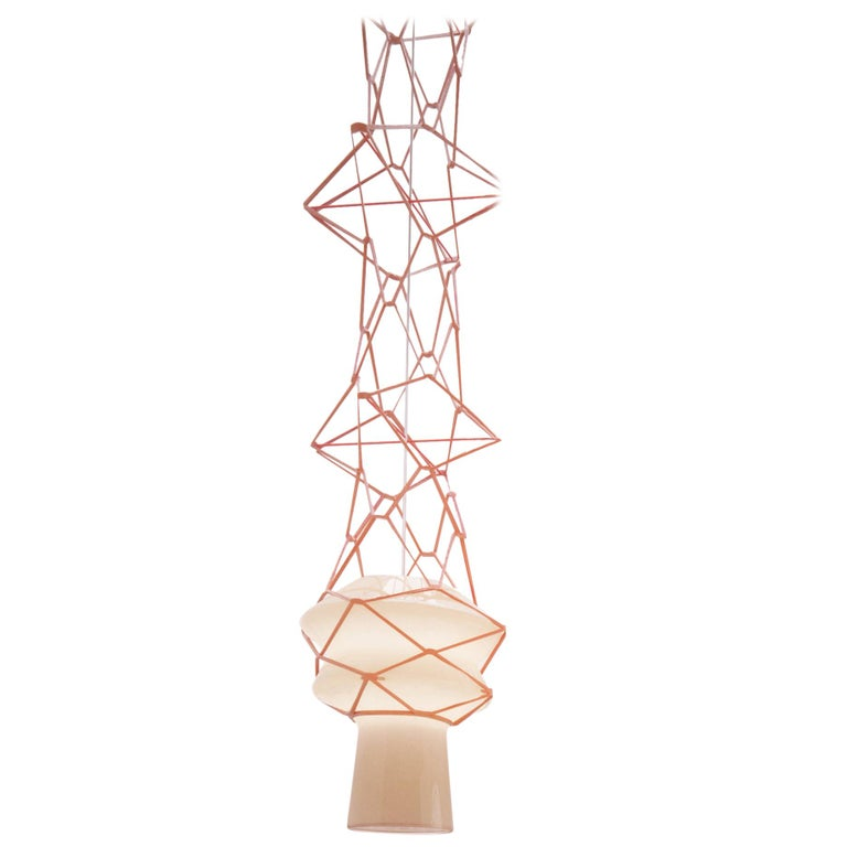Venini Stelle Filanti Pendant Light in Gray by Atelier Oï For Sale