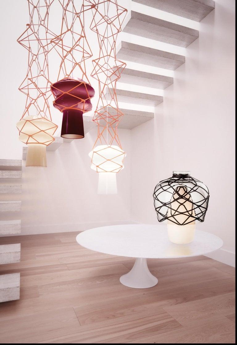 Modern Venini Stelle Filanti Pendant Light in Violet by Atelier Oï For Sale