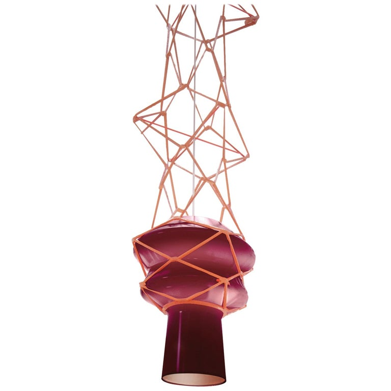 Venini Stelle Filanti Pendant Light in Violet by Atelier Oï For Sale