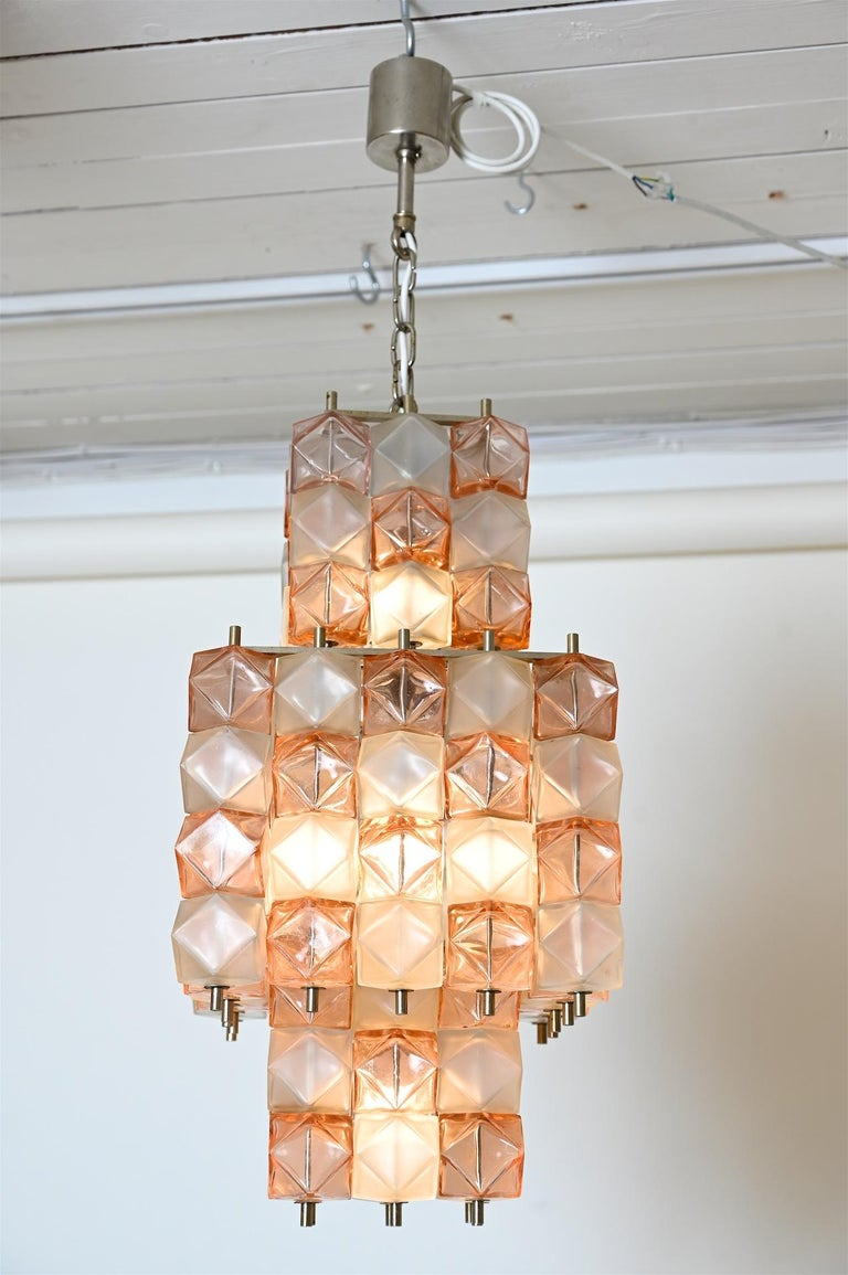 Venini Style Chandelier, Italy, circa 1950 In Good Condition For Sale In London, GB