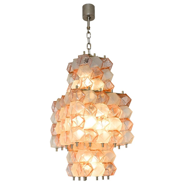 Venini Style Chandelier, Italy, circa 1950 For Sale