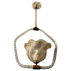 Venini Style Murano Glass Chandelier or Lantern