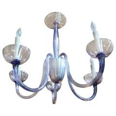 Venini Style Murano Glass Chandelier-Violet Color