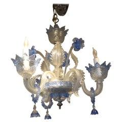 Venini Style Murano Glass Three-Light Chandelier