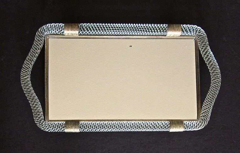 Venini Style Murano Twisted Rope Glass Vanity Tray For Sale 6