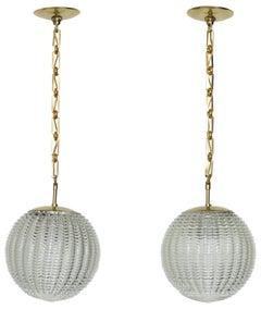 Venini Style Pair of Ceiling Pendants