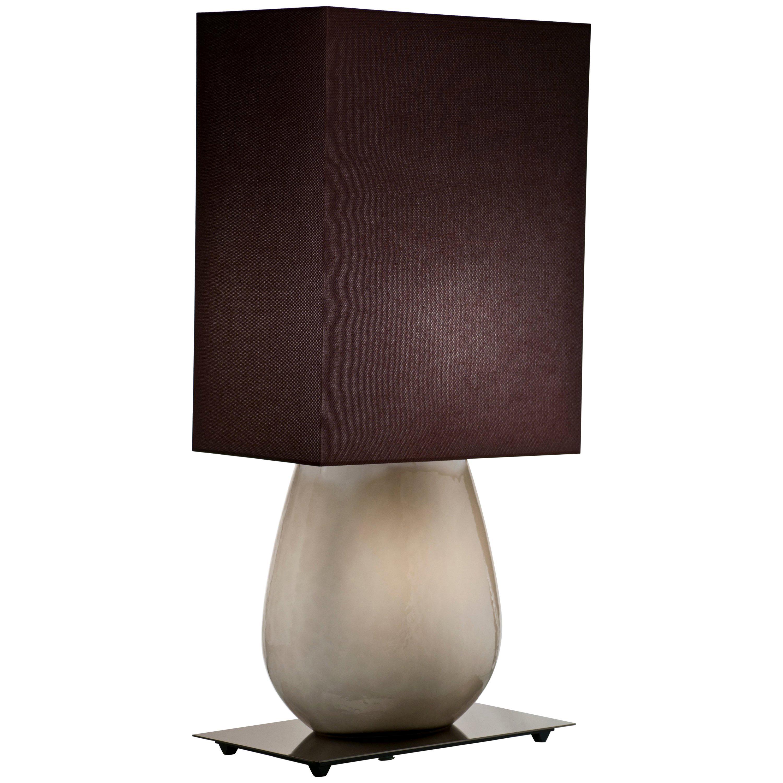 Venini Sultani Large Table Light in Gray by Leonardo Ranucci